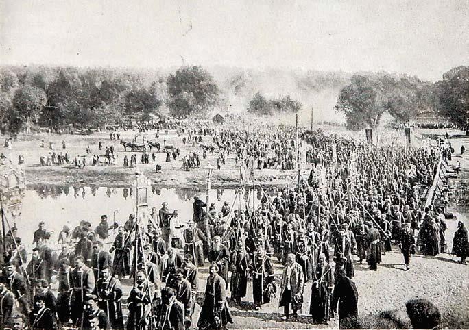 Крестный ход во время Саровских торжеств